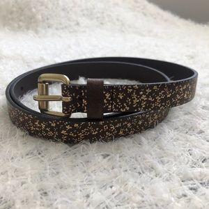 Levi's Gold Floral Leather Belt